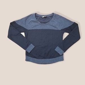 THE NORTH FACE quilted black gray sweater XS